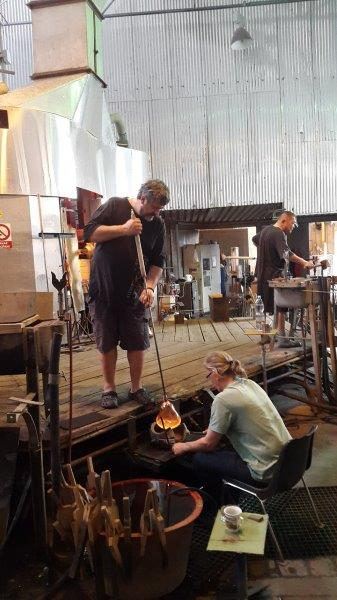 Nizbor Glassworks - glass blowing